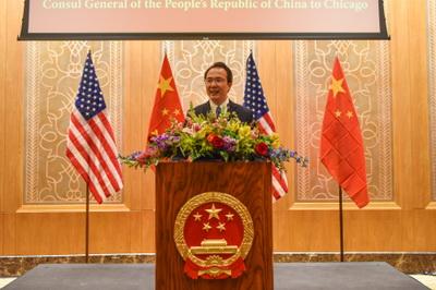 驻芝加哥总领事洪磊举行到任侨界招待会