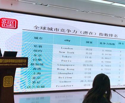 全球城市竞争力报告发布  深穗莞3城入围全球竞争力前200