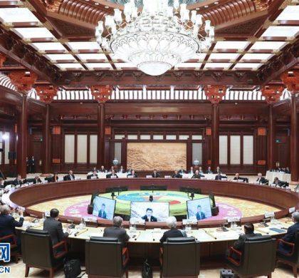 """习近平在""""一带一路""""国际合作高峰论坛圆桌峰会上的开幕辞"""