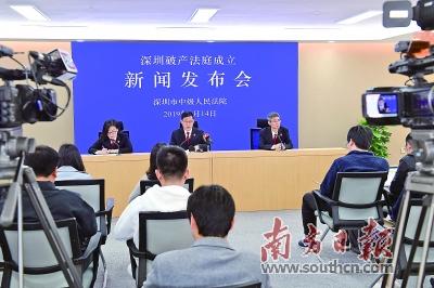 中国首家破产法庭在深圳揭牌成立