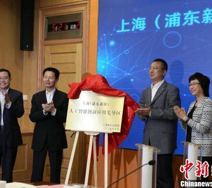 中国首个人工智能创新应用先导区在上海启动建设