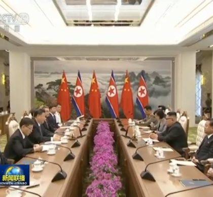 习近平同朝鲜劳动党委员长、国务委员会委员长金正恩举行会谈