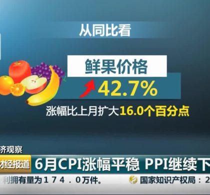 新闻分析:食品价格涨幅扩大拉动6月CPI