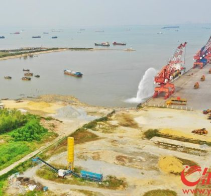 广州南沙港开建粤港澳大湾区首个全自动化码头