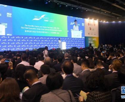 """""""一带一路""""高峰论坛国际与会者期盼香港重回和平稳定"""