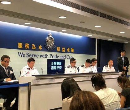香港警方:在10月1日暴力活动中共拘捕269人 警员开枪止暴合理合法