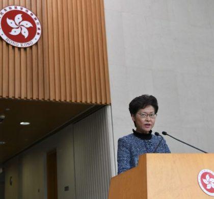 林郑月娥:2019年全年香港经济情况严峻 要想治本须遏止暴力