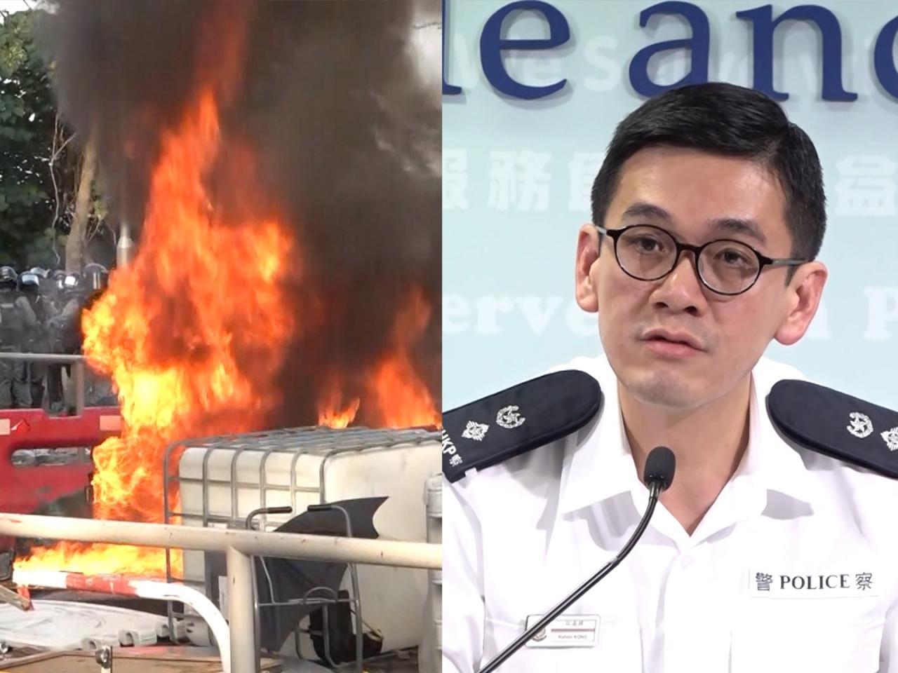 香港警方11日拘捕287人 逾六成是学生