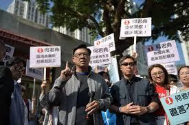 特写:香港市民自发支持遇刺的何君尧议员