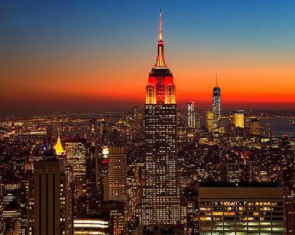 纽约帝国大厦举行中国春节点灯仪式