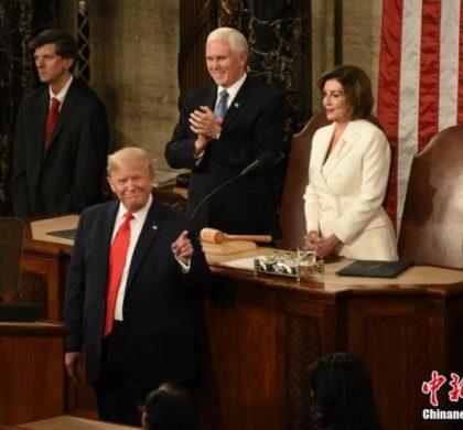 特朗普发表国情咨文 美国政治极化凸显