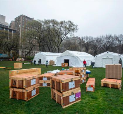 美国新冠疫情死亡率高峰两周后    纽约中央公园将建造野战医院