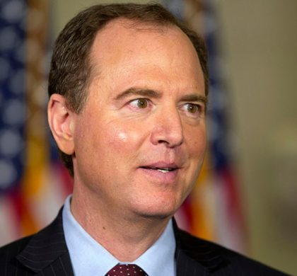 House Benghazi Committee member Rep. Adam Schiff, D-Calif. speaks to the media on Capitol Hill in Washington, Thursday, Oct. 22, 2015, during a break in the testimony of Democratic presidential candidate, former Secretary of State Hillary Rodham Clinton before the committee. (AP Photo/Jacquelyn Martin)