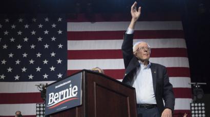 美国民主党总统竞选人桑德斯退选
