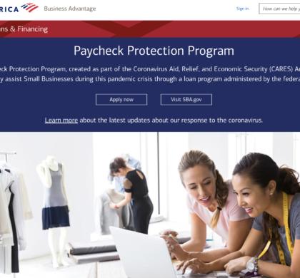 美国银行率先开通小企业贷款援助