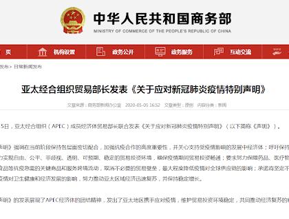APEC将加强经贸合作应对疫情