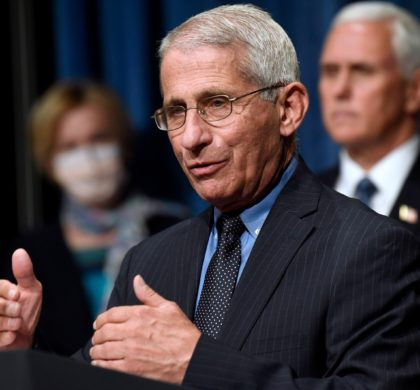 Director of the National Institute of Allergy and Infectious Diseases Dr. Anthony Fauci, center, speaks as Vice President Mike Pence, right, and Dr. Deborah Birx, White House coronavirus response coordinator, left, listen during a news conference with members of the Coronavirus task force at the Department of Health and Human Services in Washington, Friday, June 26, 2020. (AP Photo/Susan Walsh)