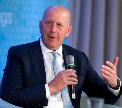 Chairman and CEO of Goldman Sachs David Solomon speaks during the forum Unleashing the Potential of Women Entrepreneurs through Finance and Markets, in the sidelines of the World Bank/IMF Annual Meetings in Washington, Friday, Oct. 18, 2019. (AP Photo/Jose Luis Magana)