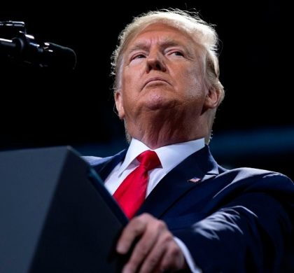 President Donald Trump speaks during a campaign rally at Kellogg Arena, Wednesday, Dec. 18, 2019, in Battle Creek, Mich. (AP Photo/ Evan Vucci)