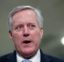 Rep. Mark Meadows, R-N.C., talks to reporters in the basement of the U.S. Capitol in Washington, Thursday, Jan. 30, 2020, during the impeachment trial of President Donald Trump on charges of abuse of power and obstruction of Congress. (AP Photo/Julio Cortez)