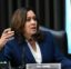 Sen. Kamala Harris, D-Calif., speaks during a Senate Judiciary Committee hearing examining issues facing prisons and jails during the coronavirus pandemic on Capitol Hill in Washington, Tuesday, June 2, 2020. (Erin Scott/Pool via AP)