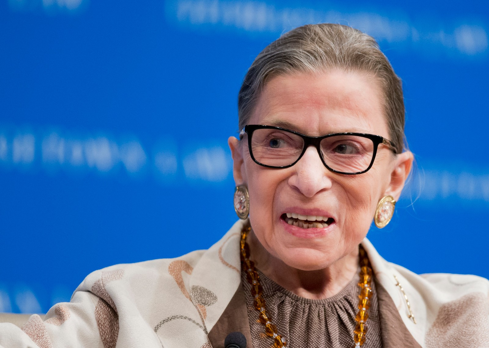 FILE - In this Feb. 4, 2015 file photo, Supreme Court Justice Ruth Bader Ginsburg speaks at Georgetown University Law Center in Washington. Ginsburg's public criticism of Donald Trump is dividing legal experts over whether the leader of the court's liberal wing should recuse herself in any future case involving him.  (AP Photo/Manuel Balce Ceneta, File)