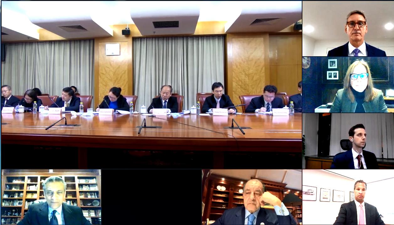 宁吉喆与美中贸易全国委员会董事会代表团举行视频座谈会