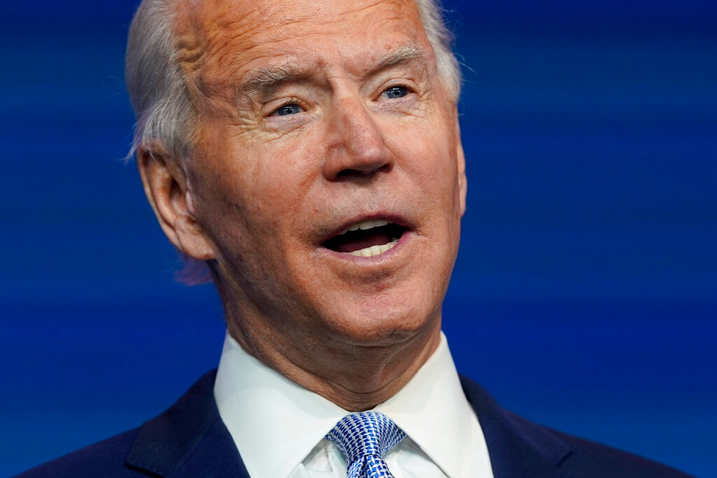 President-elect Joe Biden introduces nominees and appointees to key national security and foreign policy posts at The Queen theater, Tuesday, Nov. 24, 2020, in Wilmington, Del. (AP Photo/Carolyn Kaster)