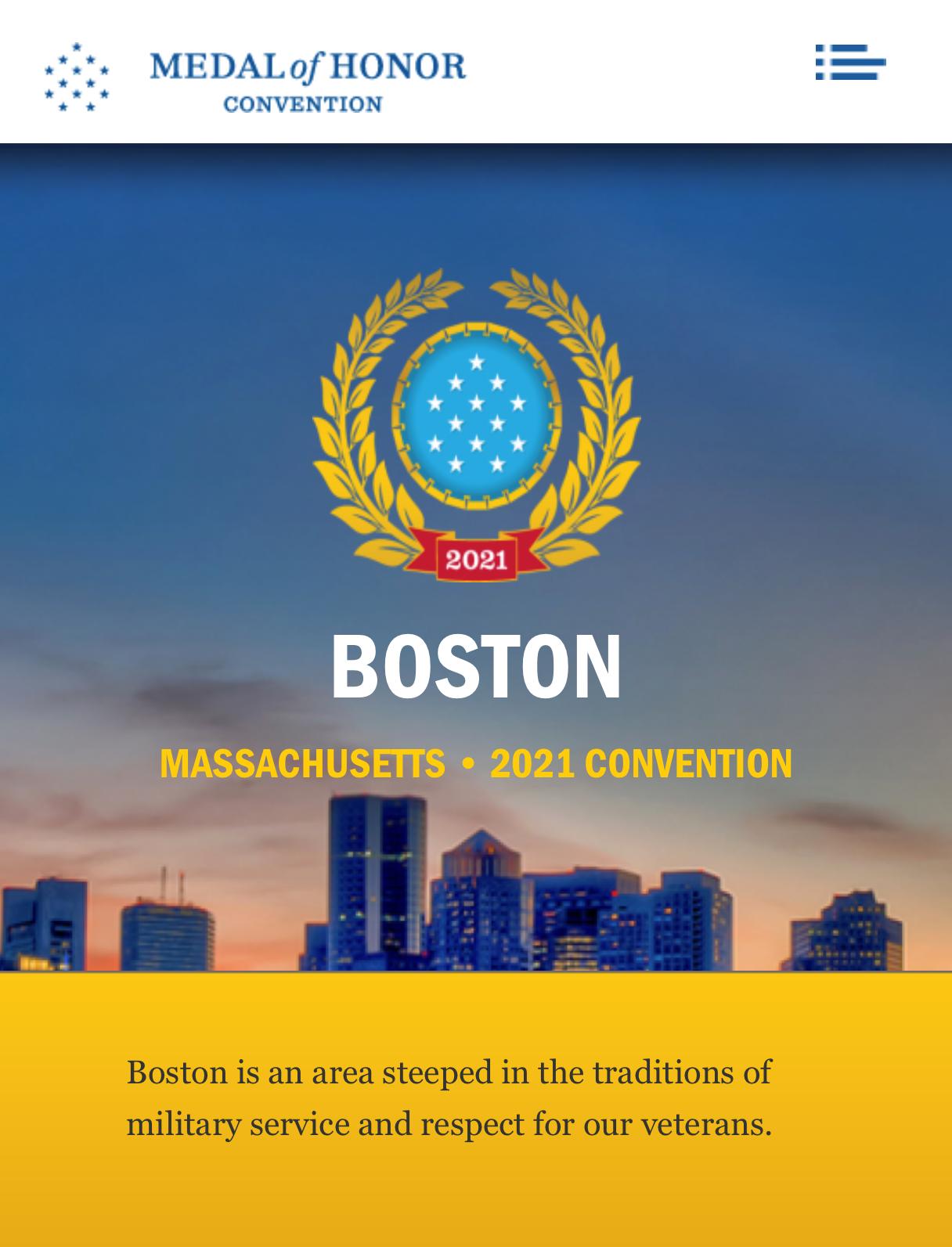 全美在世国会荣誉勋章获得者仅69位   波士顿于9月第四次举办荣誉勋章大会