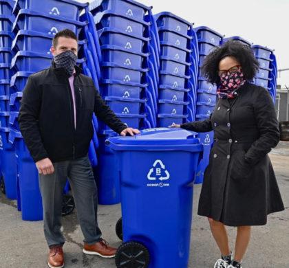 波士顿市推出由海洋粘合塑料制成的新型回收推车