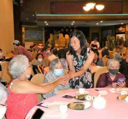 台山联谊会举办唐人街父亲节活动 市议员市长候选人吴弭出席并拉票