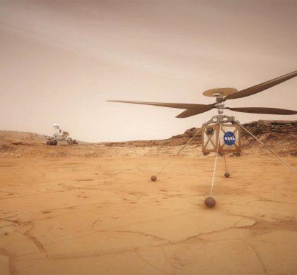 美国火星直升机完成飞行测试