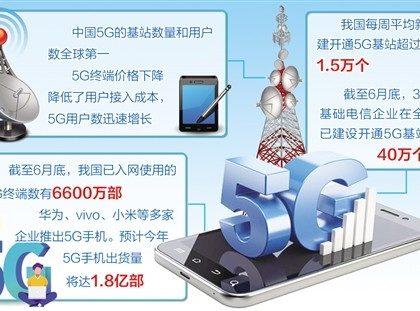中国5G网络建设速度超预期 已开通基站超40万个