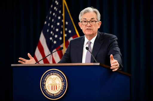 Federal Reserve Chair Jerome Powell speaks during a news conference following the Federal Open Market Committee meeting in Washington, Wednesday, Jan. 29, 2020. (AP Photo/Manuel Balce Ceneta)