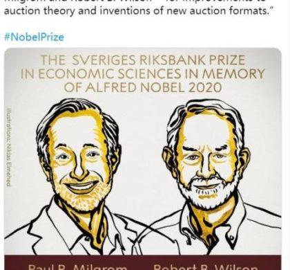 2020年诺贝尔经济学奖揭晓 两位美经济学家获奖