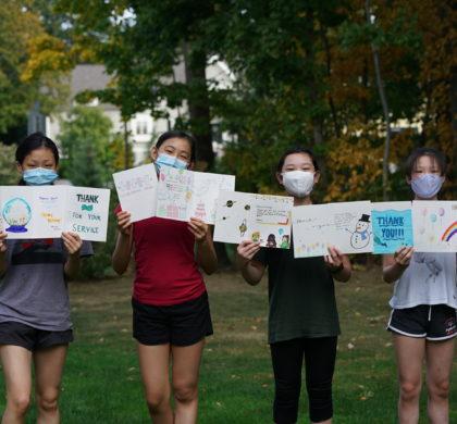 """麻州华裔青少年用""""永不褪色的信笺""""表达""""写给老兵们的挂念"""""""