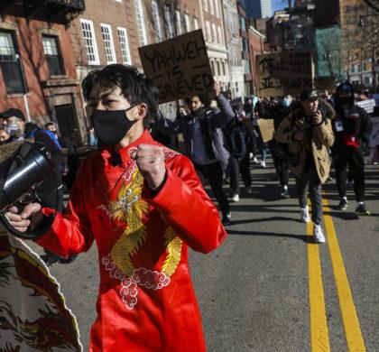 """哈佛大学等学生组织""""停止亚裔仇恨""""集会 亚裔美国大学生及盟友和社区积极响应"""