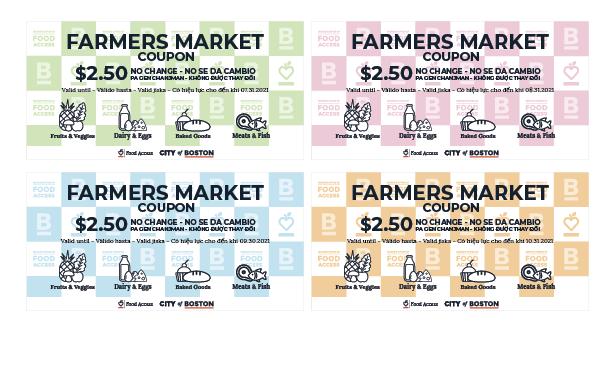 波士顿推出 2021 年农贸市场优惠券计划 优惠券可在全市所有的参与农贸市场购买