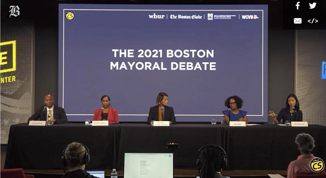 波士顿市长候选人选举前最后辩论结束 五位候选人辩论语气更加尖锐形成对峙